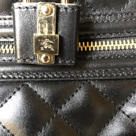 Burberry Leather Quilted Satchel in Black Image 4
