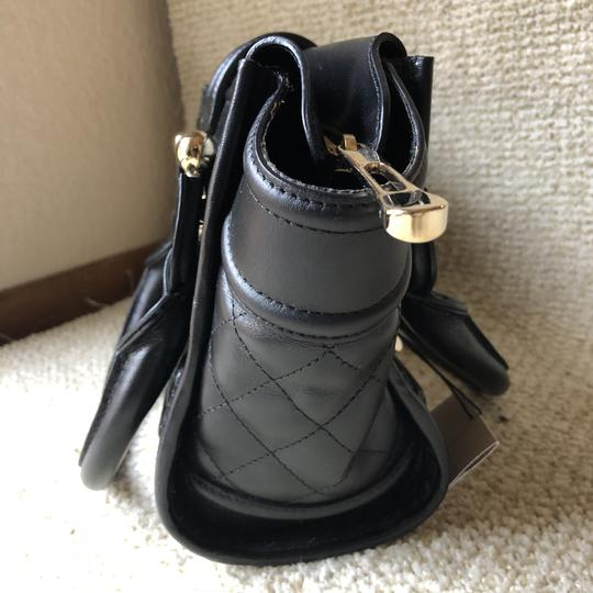 Burberry Leather Quilted Satchel in Black Image 5