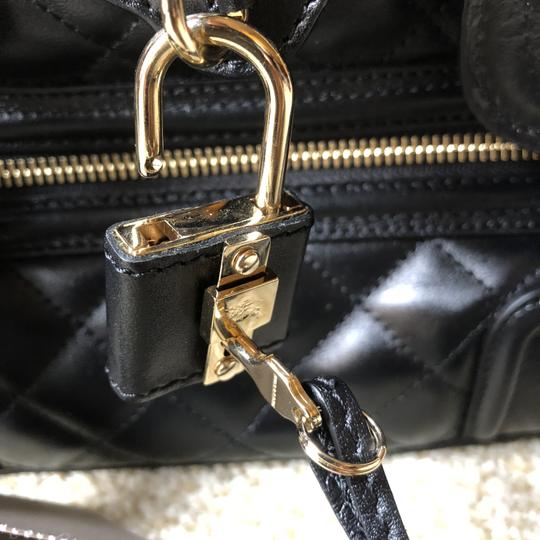 Burberry Leather Quilted Satchel in Black Image 9