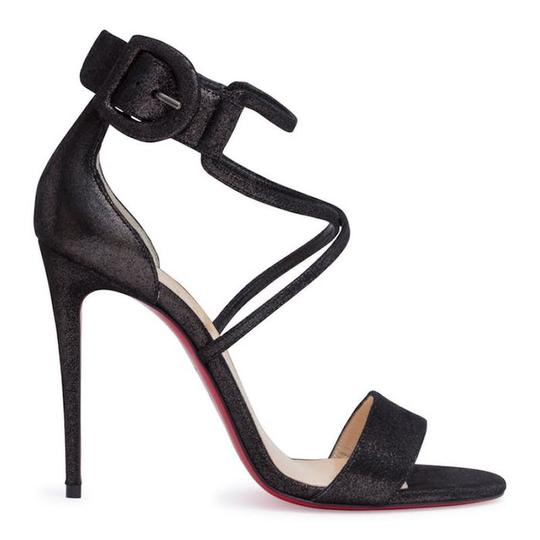 Christian Louboutin Stiletto Classic Choca Crisscross Strap Ankle Strap black Pumps Image 2