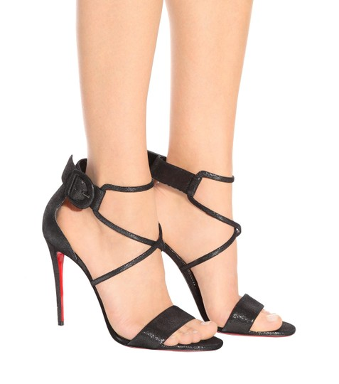 Christian Louboutin Stiletto Classic Choca Crisscross Strap Ankle Strap black Pumps Image 4