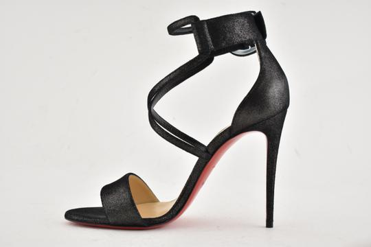 Christian Louboutin Stiletto Classic Choca Crisscross Strap Ankle Strap black Pumps Image 8
