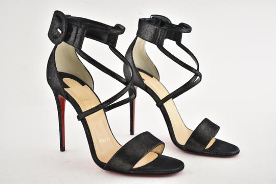 Christian Louboutin Stiletto Classic Choca Crisscross Strap Ankle Strap black Pumps Image 3