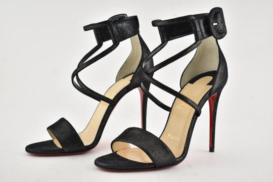 Christian Louboutin Stiletto Classic Choca Crisscross Strap Ankle Strap black Pumps Image 9