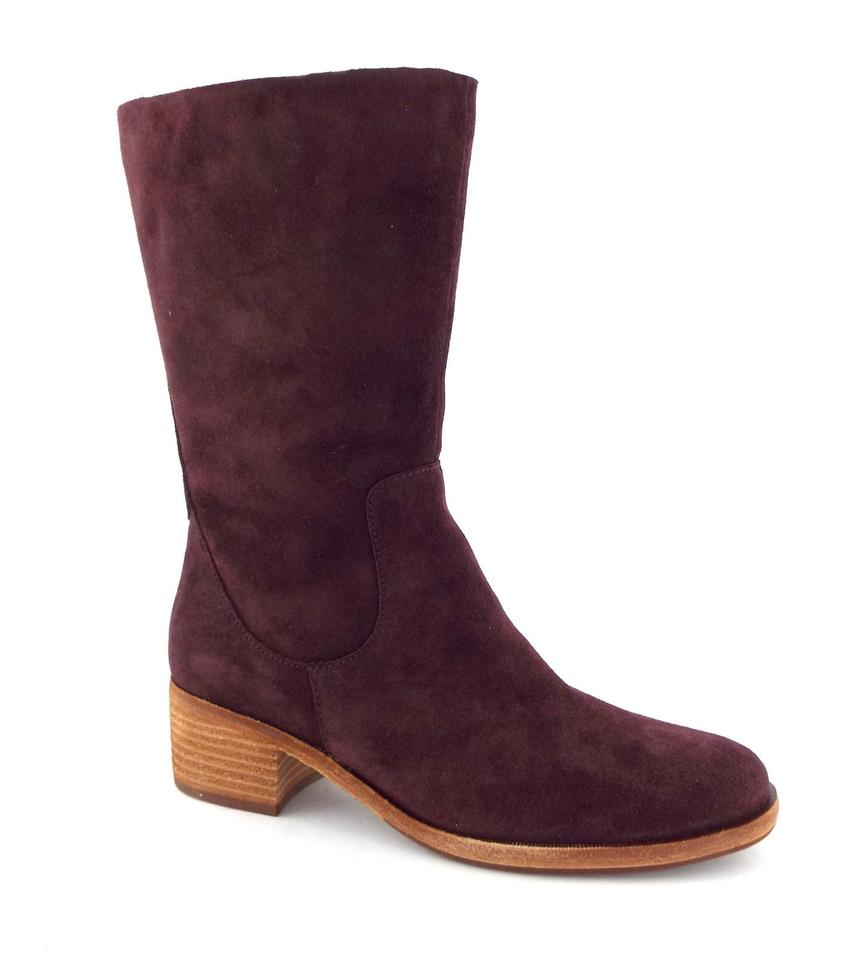 1a9fc9b283b Kork-Ease Burgundy Suede Leather Block-heel Boots Booties Size US ...
