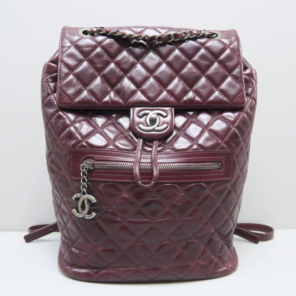 605ea5a96710 Chanel Backpack Paris-salzburg Mountain Maroon Calfskin Leather ...