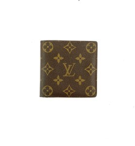 Louis Vuitton Mens Marco Monogram Canvas Leather Bifold Mens Wallet France