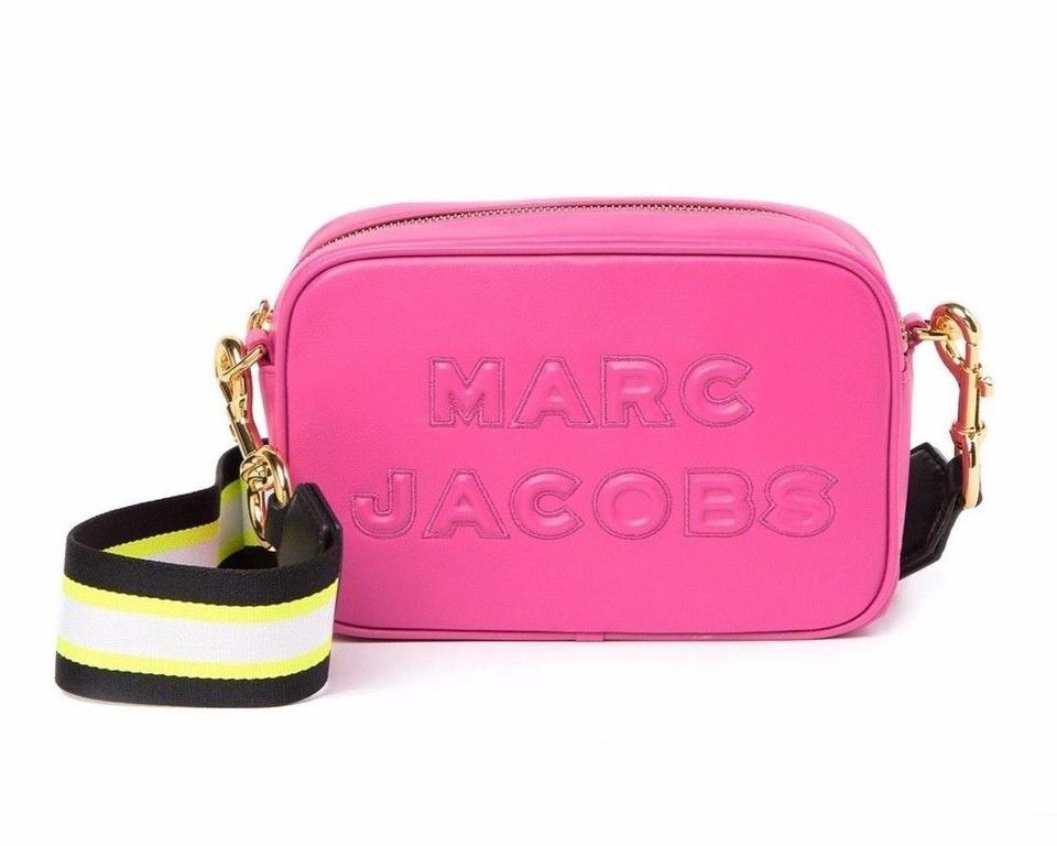 d85ceeaed33 Marc Jacobs Flash Pink Leather Cross Body Bag - Tradesy