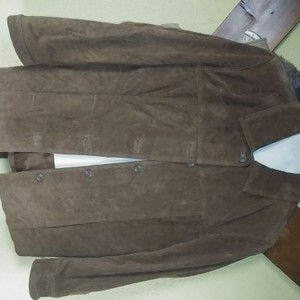 Jaclyn Smith Button Down Shirt Genuine leather suede