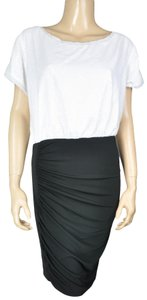 Unbranded Bcbg Sequin Draped Two-tone Dress