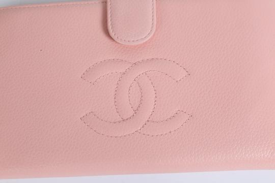 Chanel CHANEL CC Pink Leather Bifold Wallet Clutch Image 1