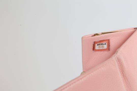 Chanel CHANEL CC Pink Leather Bifold Wallet Clutch Image 10