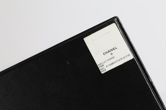 Chanel CHANEL CC Pink Leather Bifold Wallet Clutch Image 11