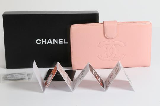 Chanel CHANEL CC Pink Leather Bifold Wallet Clutch Image 2