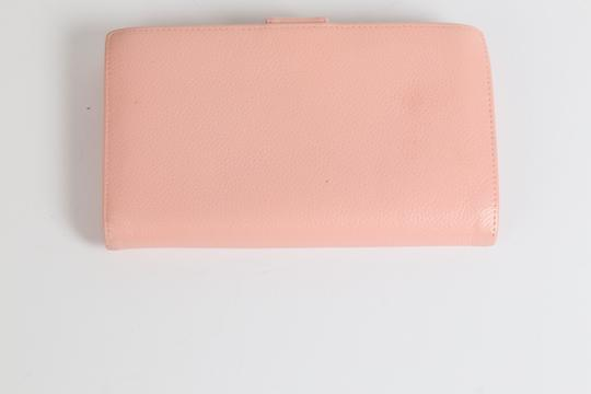 Chanel CHANEL CC Pink Leather Bifold Wallet Clutch Image 4