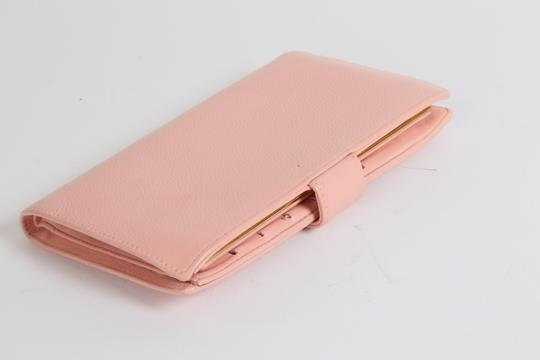 Chanel CHANEL CC Pink Leather Bifold Wallet Clutch Image 5