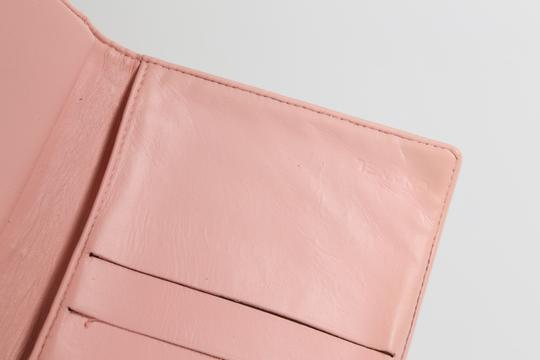 Chanel CHANEL CC Pink Leather Bifold Wallet Clutch Image 7