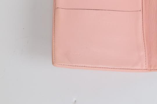 Chanel CHANEL CC Pink Leather Bifold Wallet Clutch Image 8