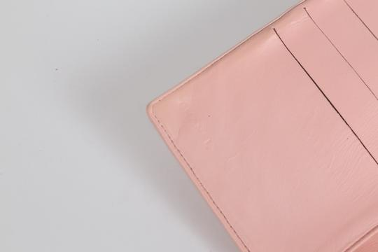 Chanel CHANEL CC Pink Leather Bifold Wallet Clutch Image 9