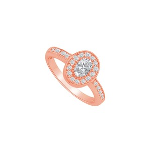 DesignByVeronica April Birthstone CZ Halo Ring for Every Special Woman