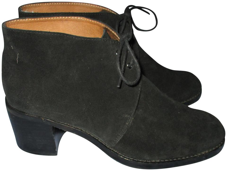 8dd25fbb4c2e Bettye Muller Black Suede Leather Lace Up Ankle M Boots Booties. Size  US 8  Regular ...