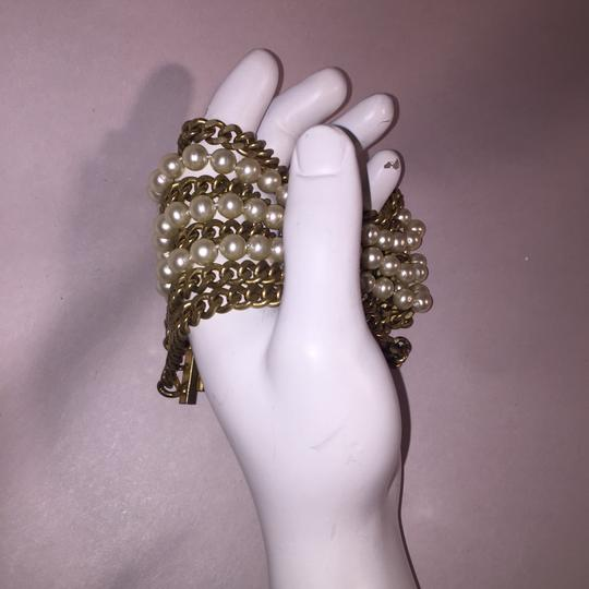 Chanel vintage Chainlink & Faux Pearl Cuff Image 10