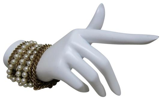Chanel vintage Chainlink & Faux Pearl Cuff Image 2