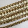 Chanel vintage Chainlink & Faux Pearl Cuff Image 7