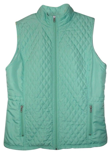 Item - Turquoise Quilted Puffer Vest Size 8 (M)