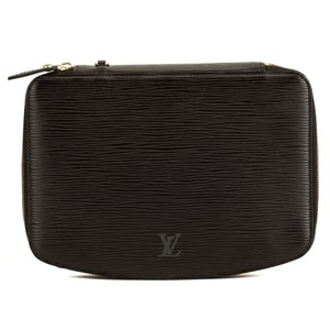 Louis Vuitton Louis Vuitton Noir Epi Poche Monte Carlo Jewelry Case 4013010