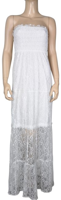 Item - White Lace Maxi Ball Gown Long Formal Dress Size 6 (S)