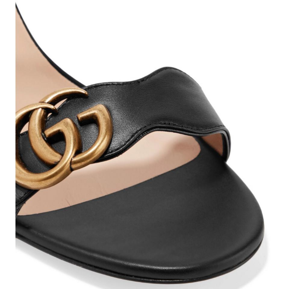 0a2713e1c7 Gucci Marmont Leather Chunky Sandals Size EU 38.5 (Approx. US 8.5) Regular  (M, B) - Tradesy