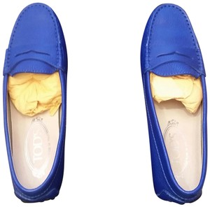 Tod's Leather Blue Flats