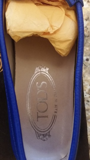 Tod's Leather Blue Flats Image 1
