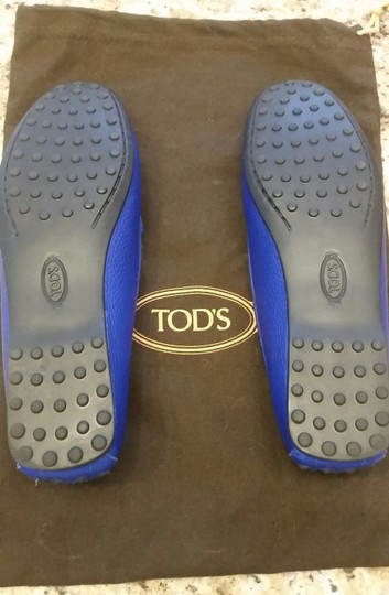 Tod's Leather Blue Flats Image 2