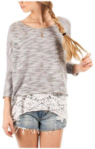 Others Follow Wool Blend Lace. Sweater