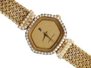 Audemars Piguet Audemars Piguet Rare & Exquisite Ladies Bracelet Watch - 18K Gold & Di