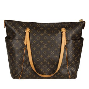 Louis Vuitton Totally Monogram Canvas Leather Tote in Brown