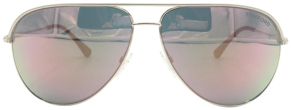 b9deb90dd Tom Ford Aviator Matte Gold Rose Mirrored Sunglasses Erin TF466 29Z Image 0  ...