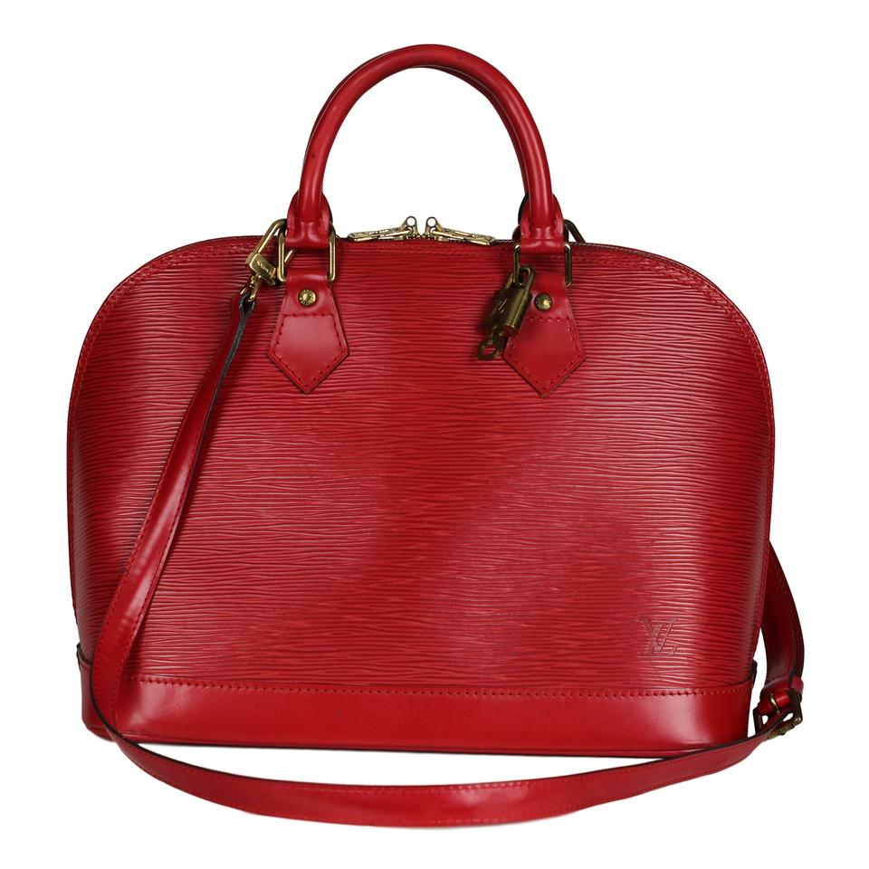 b283e75838b Louis Vuitton Alma Castilian with Strap 6861 Red Leather Cross Body ...