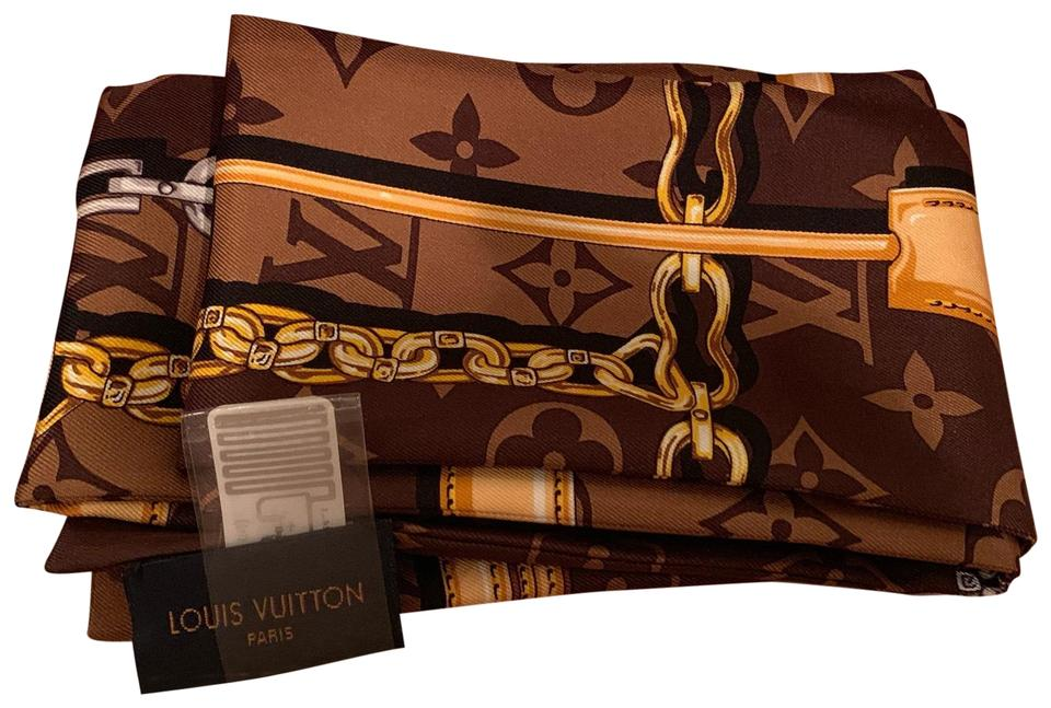 5f87c3b83219 Louis Vuitton Brown Monogram Confidential Bandeau Scarf Wrap - Tradesy