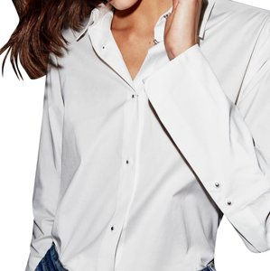 Misha Nonoo Button Down Shirt white