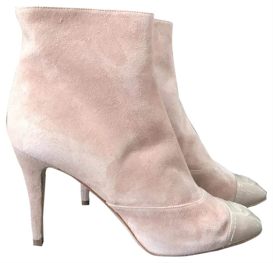 af945b23136 Chanel Pink Classic Beige Cap Toe Suede Boots/Booties Size EU 40 (Approx.  US 10) Regular (M, B) 27% off retail