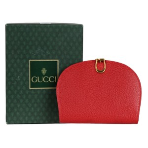 Gucci Near New Red Leather Gucci Wallet 6853