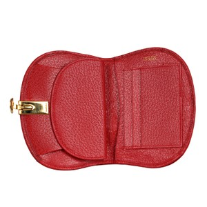 44af05124e8 Gucci Red Textured Leather with Gold Belt Buckle Hinged Clasp Early ...