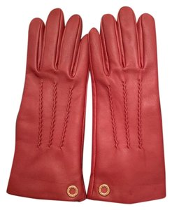 Coach Authentic Coach leather Gloves wool lining.