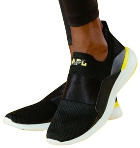 Athletic Propulsion Labs Running Elastic Rubber Strappy Black/White/Yellow Athletic