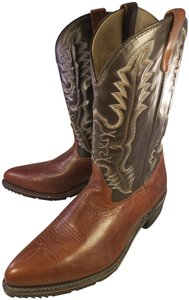Double-H Boots Man Western Classics Oil Proof brown and tan Boots