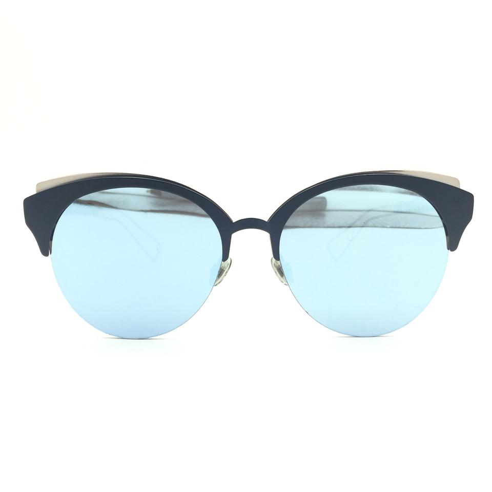 be4a75697deb Dior Rose Gold Matte Blue Cat Eye Silver Mirror Dioramaclub Fbxa4 Sunglasses