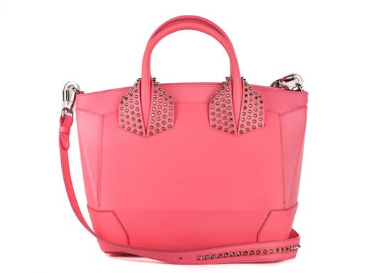Preload https://img-static.tradesy.com/item/24479670/christian-louboutin-eloise-large-studded-a814-pink-leather-tote-0-0-540-540.jpg